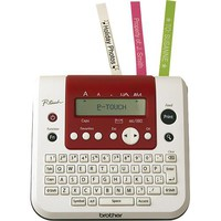 Brother - P-Touch Home & Office Electronic Labeler - White/Metallic Red