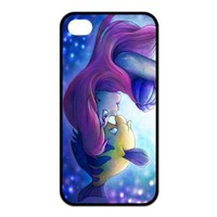 Mystic Zone Disney Classic The Little Mermaid Case for iPhone 4 4S TPU Back Cover Cartoon Fits Case KEK1529