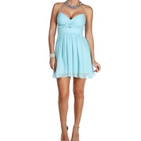 Elly- Icy Mint Short Dress
