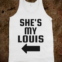 SHE'S MY LOUIS (BLACK) TANKS AND TEES