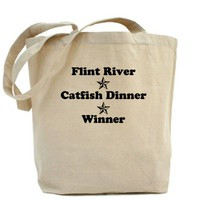 Flint River, Catfish Dinner, Winner Tote Bag