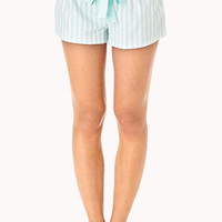 Comfy Striped Sleep Shorts