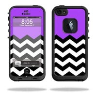MightySkins Protective Vinyl Skin Decal Cover for LifeProof iPhone 5 / 5S Case fre Case Sticker Skins Purple Chevron