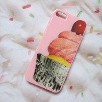 Pink Vanilla Glitter Cupcake iPhone 5 Case Cover