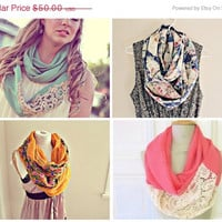 40% OFF SALE Mystery listing. BULK infinity circle scarves. You get 3 random scarves. free ship