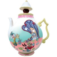 Westland Giftware 8-Inch Ceramic Teapot, 35-Ounce, Disney Alice in Wonderland