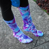 Tie Dye Nike socks Blue Berries