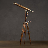 19th C. Parisian Brass Telescope