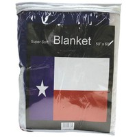 Texas State Flag Fleece Throw