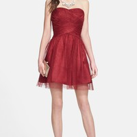 Hailey Logan Glitter Tulle Party Dress (Juniors) | Nordstrom