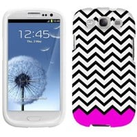 Samsung Galaxy S3 Chevron Black White Pink Ribon Phone Case Cover