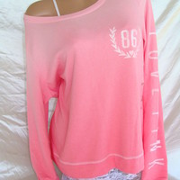 Nwt ViCTORiAS SECRET TiE DYE OMBRE PULLOVER SWEATSHiRT TOP SOFT FLUFFY LOVE PiNK