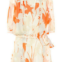Diane von Furstenberg|New Desma printed silk-chiffon mini dress|NET-A-PORTER.COM