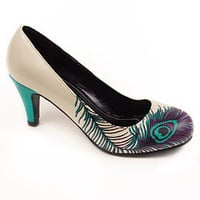 PLASTICLAND - Pretty Peacock Feather High Heel Pumps