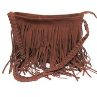 Vintage Tassel Shoulder Messenger Cross Body Bag-brown from ChicCasesAndHomeProducts
