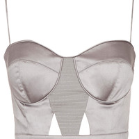 Satin Cut Out Bralet
