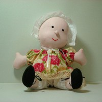 newborn pink, baby doll, handmade from Kona cotton, huggably soft