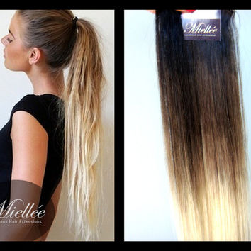 clip in hair extensions ash blonde from miellee hair pany