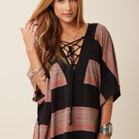 PLACKET STRIPED CAFTAN
