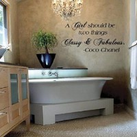 Vinyl Lettering Design Creations A Girl Should Be two things Classy & Fabulous Coco Chanel Vinyl Wall Decal words lettering-Inspirational Quote