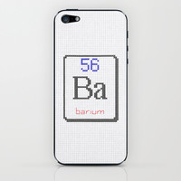 Ba Barium 56 iPhone & iPod Skin by LacyDermy