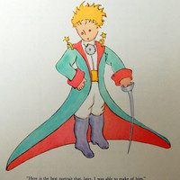 "Vintage Illustration - The Little Prince - Children's Book Color Plate - 6.75"" x 8.5"""