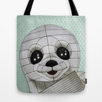 Baby Seal Propaganda - Hemlock Tote Bag by alterEGO