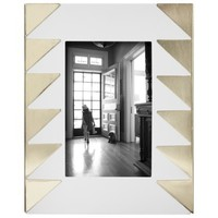 "Nate Berkus™ Chevron Photo Frame 4x6"" - White/Gold"