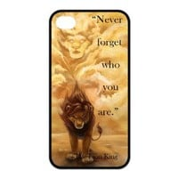 Mystic Zone Custom Cartoon Lion King Case for iPhone 4 4S Cover Fits Case KEK1622