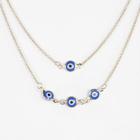 Evil Eye High/Low Necklace - Urban Outfitters