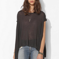 Pins And Needles Slubby Linen Trapeze Top - Urban Outfitters