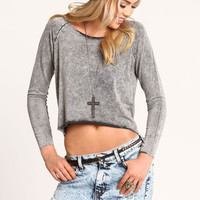 SOFT EDGE CROPPED SWEATER