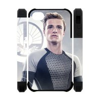 Every New Day The Hunger Games Peeta Mellark Josh Hutcherson Unique Custom IPHONE 4 or 4S Best Polymer+ Rubber 3D Cover Case