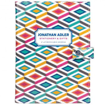 Jonathan Adler Coated Canvas Refillable Journal