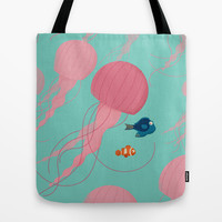 Just Keep Swimming Tote Bag by Jay Fleck