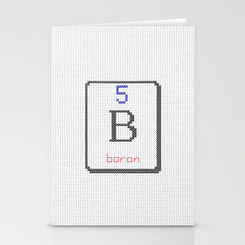 B Boron 5 Stationery Cards by LacyDermy