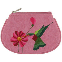 LAVISHY hummingbird vegan coin purse
