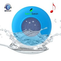 BerryBean BELLE - Mini Portable Waterproof Bluetooth 3.0 Wireless Stereo Speaker w Suction Cup for Shower, Bathroom, Pool, Boat, Car, Outdoor, etc, Compatible w all Bluetooth Devices - iOS iPhone / iPad, Android - 6 Hour Rechargeable Battery w Built-in Mic