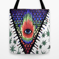 eye trip Tote Bag by Natasha Gualy