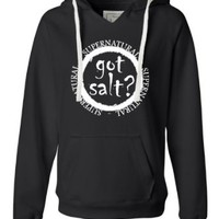 Womens Got Salt? Supernatural Deluxe Soft Hoodie