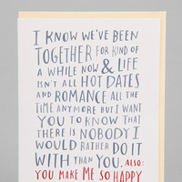 I Know We've Been Together Card - Urban Outfitters