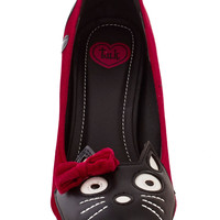 Meow's the Time Heel in Red Velvet | Mod Retro Vintage Heels | ModCloth.com