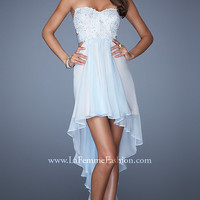 Strapless High Low La Femme Dress
