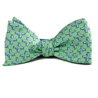 Southern Tide Mosaic Skipjack Bow Tie - Leaf Green - Nowells Clothiers