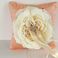 Wedding Ring Pillow Ring Bearer Pillow by LaceyClaireDesigns