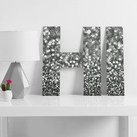 Lisa Argyropoulos Steely Grays Decorative Letters
