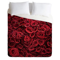 Catherine McDonald Flower Market 3 - Twin, Queen, King Bedding | DENY Designs - Romantic Red Rose, paris