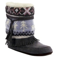Women's MUK LUKS® Ricki Slipper Boot - Grey
