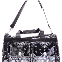 Sugar Skull Bandana Travel Bag