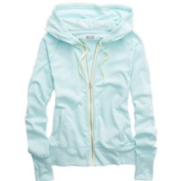 AERIE POP COLOR HOODED SWEATSHIRT